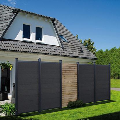 Montierter Sichtschutz von HolzLand Bunzel in Marl und Hamm