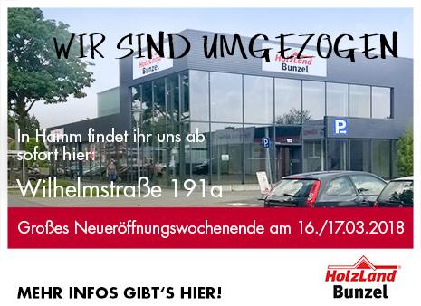 Neuer Standort in Hamm HolzLand Bunzel