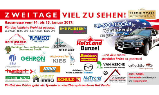 Partnerlogos Hausmesse 2017 bei HolzLand Bunzel in Marl