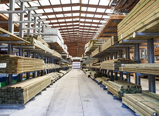 Holzlager für Profikunden bei HolzLand Bunzel in Marl und Hamm