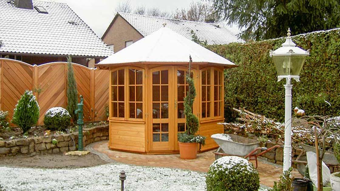Referenzen Außen Pavillon von HolzLand Bunzel in Marl und Hamm