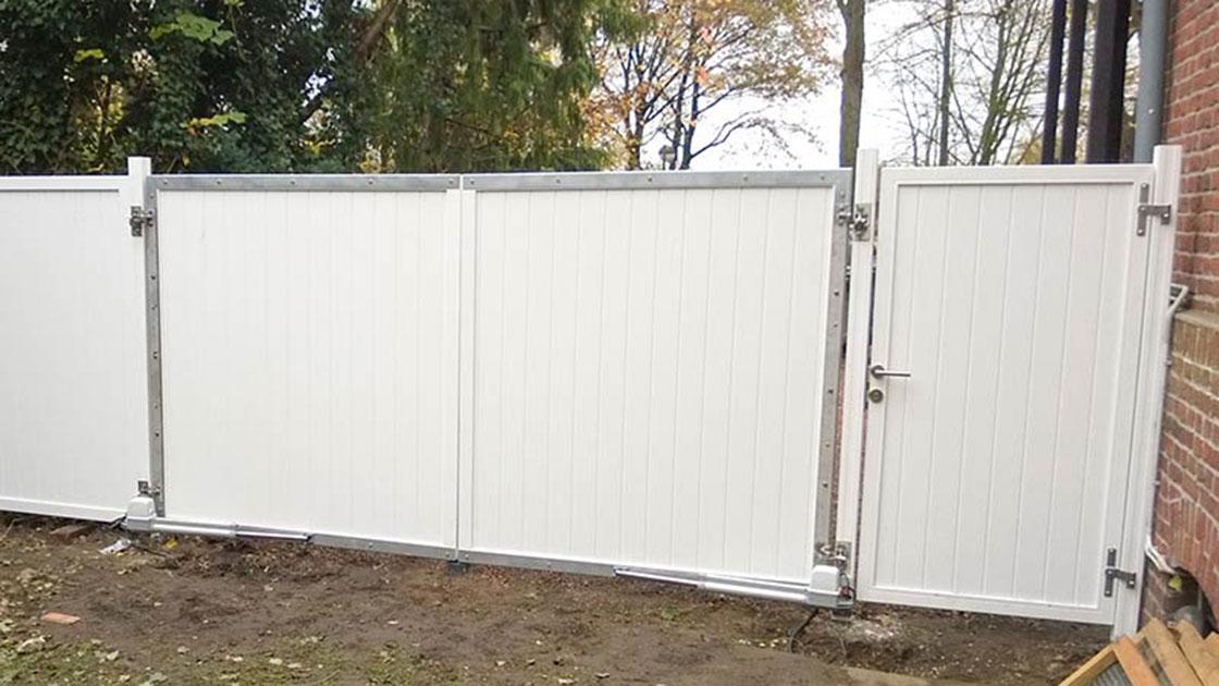 Referenzen Außen Sichtschutzzaun mit automatischer Öffnung von HolzLand Bunzel in Marl und Hamm