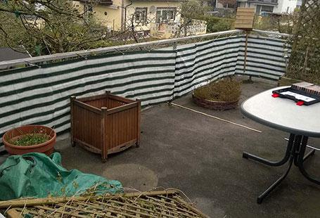 Referenzen Außen Dachterrasse vor Renovierung von HolzLand Bunzel in Marl und Hamm