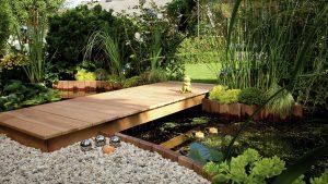 Garten Teichbrücke mit HolzLand Bunzel in Marl und Hamm