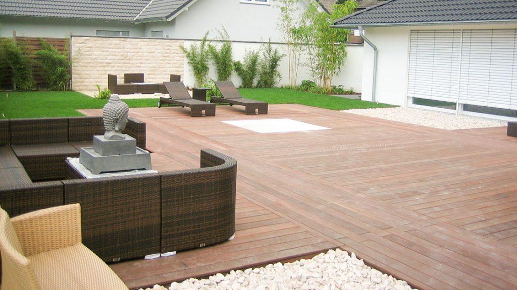 Terrasse mit Pavillon von HolzLand Bunzel in Marl und Hamm