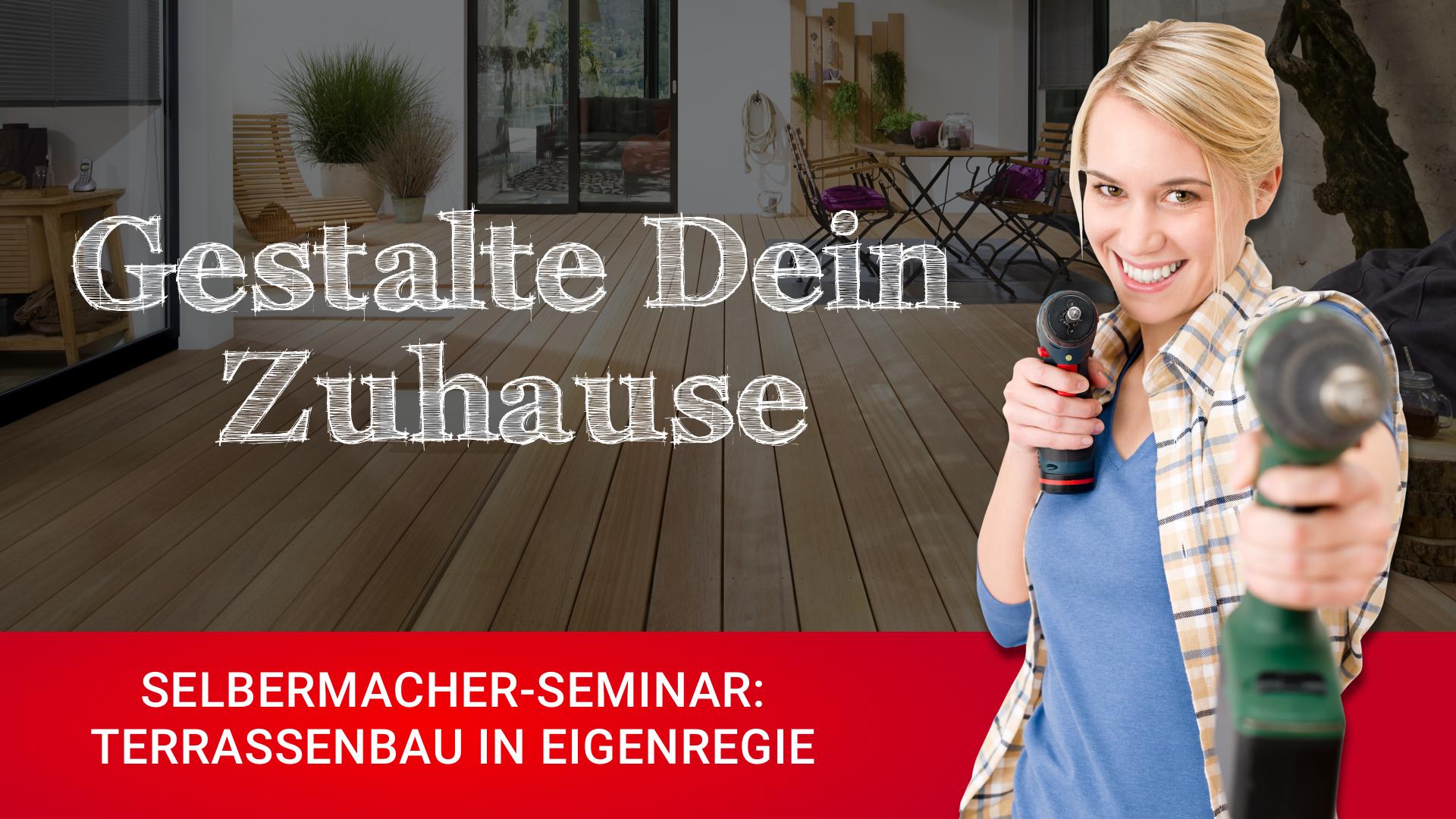 DIY-Seminar Terrasse verlegen bei HolzLand Bunzel