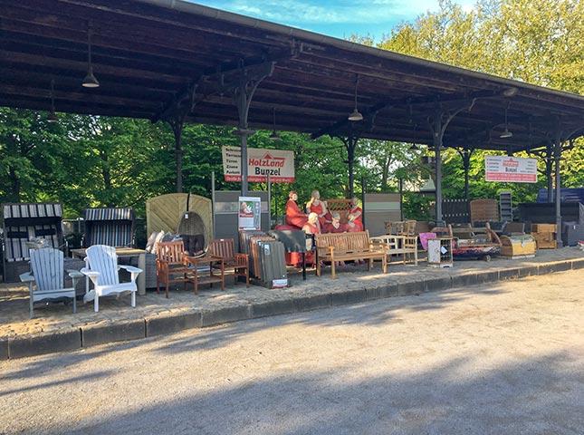 Ausstellung Gartenmarkt 2018 mit HolzLand Bunzel in Hamm