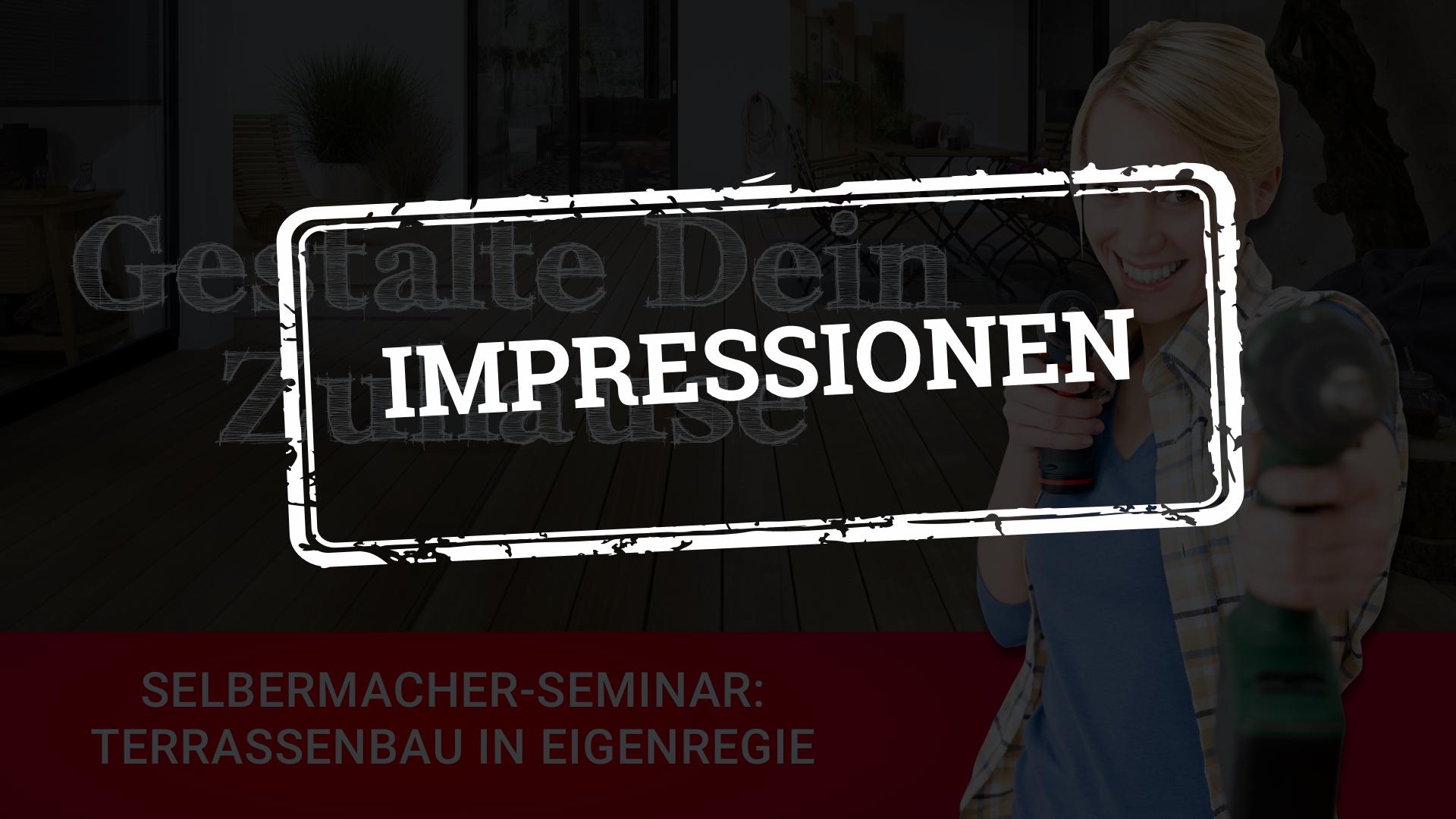 Rückblick DIY-Seminar Terrasse verlegen bei HolzLand Bunzel