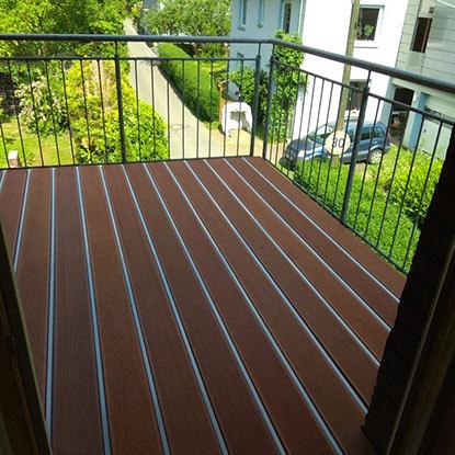Außen Referenzen | Fertiggestellter Balkon | Holzland Bunzel in Marl und Hamm