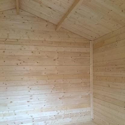 Außen Referenzen | Gartenhaus Ansicht Innen | Holzland Bunzel in Marl und Hamm