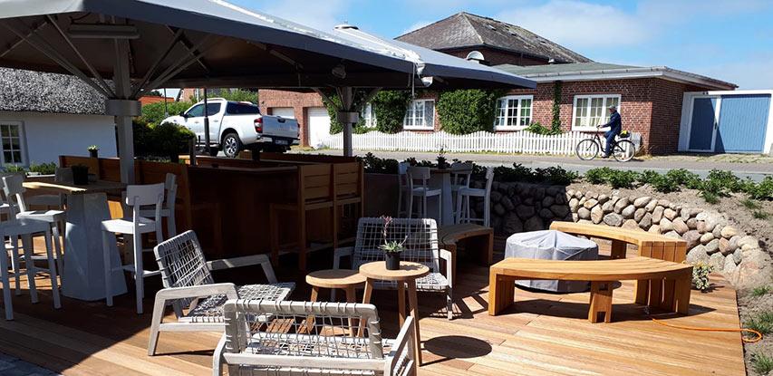 Außen Referenzen | Fertig gestellte Terrasse auf Sylt | Holzland Bunzel in Marl und Hamm