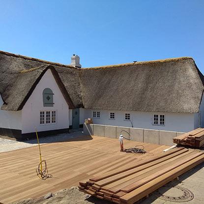 Außen Referenzen | Baufortschritt Terrasse auf Sylt | Holzland Bunzel in Marl und Hamm