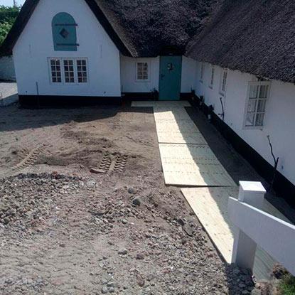 Außen Referenzen | Baustart der Terrasse auf Sylt | Holzland Bunzel in Marl und Hamm
