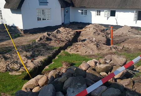 Außen Referenzen Vorher | Terrasse Alter Gasthof Sylt | Holzland Bunzel in Marl und Hamm