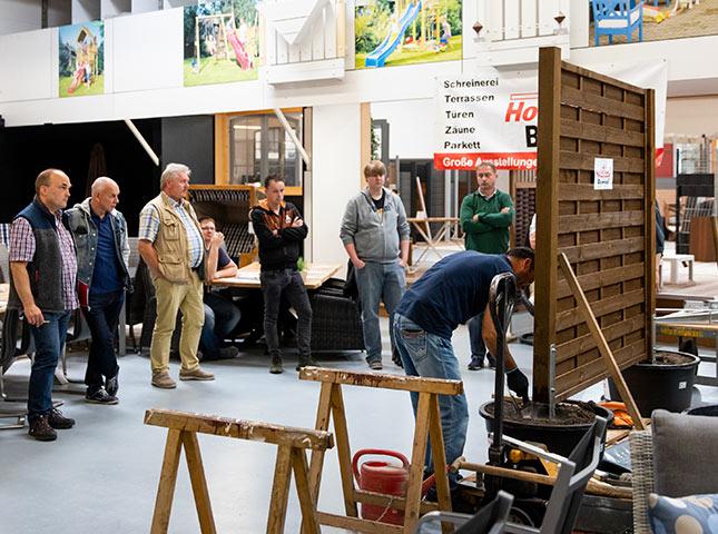 Live Aufbau | DIY-Zaunseminar bei HolzLand Bunzel in Marl