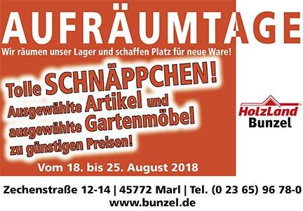 Aufräumtage 2018   HolzLand Bunzel in Marl   Megamenü