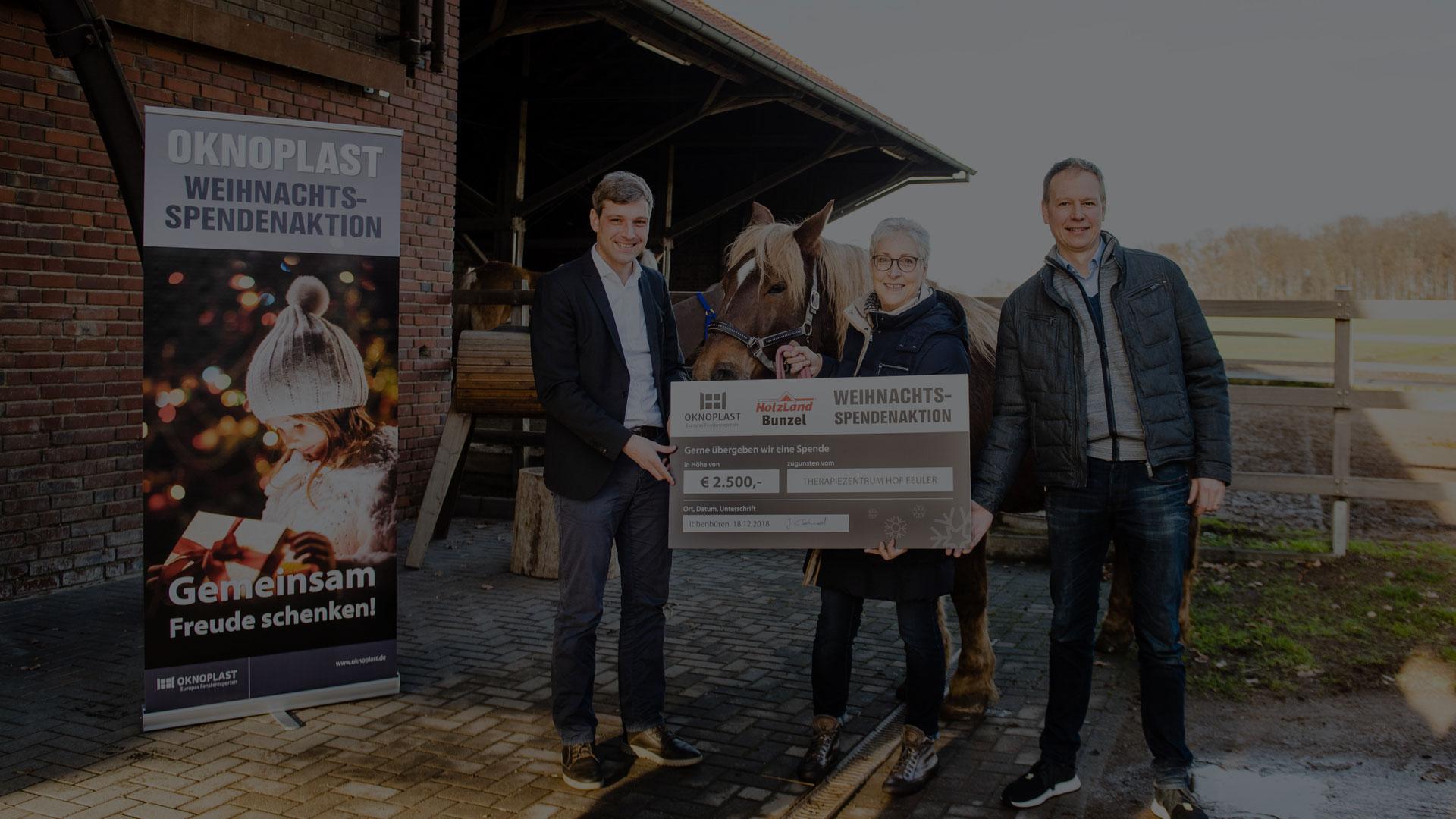 Weihnachtsspende 2018 | HolzLand Bunzel in Marl und Hamm