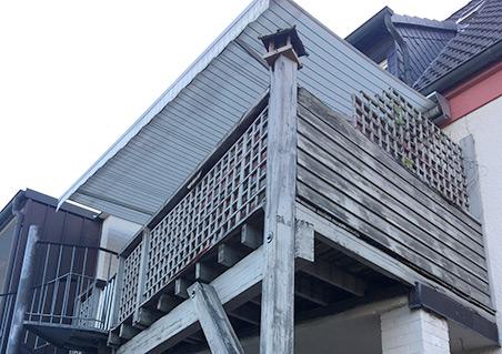 Referenz vor Balkonsanierung | HolzLand Bunzel in Marl und Hamm