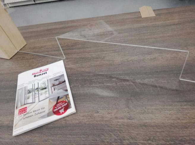 Corona-Schutzwand aus Plexiglas | HolzLand Bunzel in Marl und Hamm
