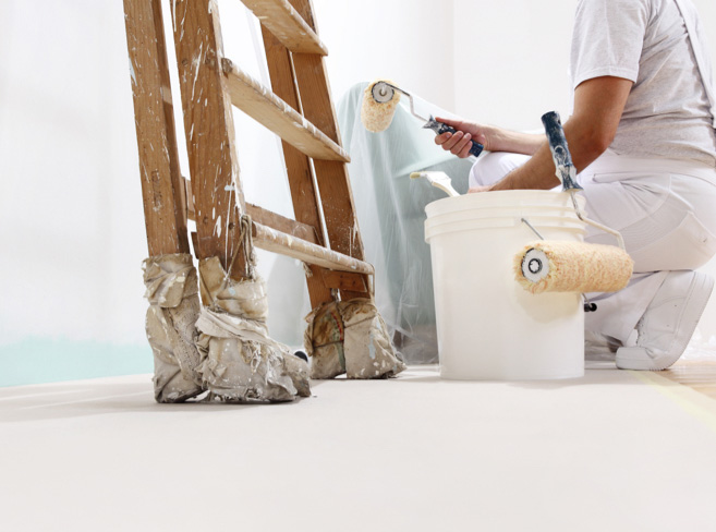 #dieallesschreiner organisieren den Maler | HolzLand Bunzel in Marl und Hamm