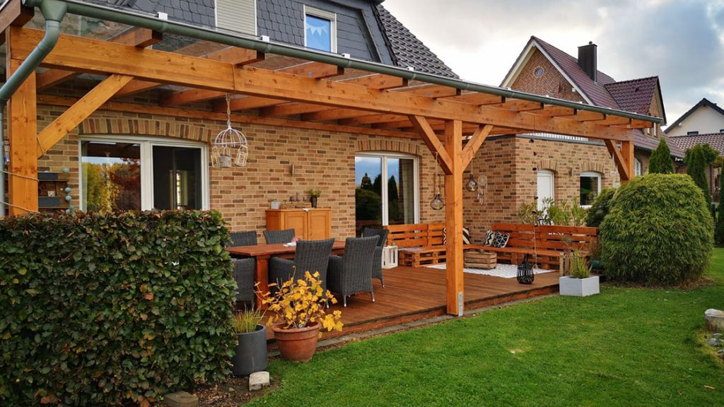 Terrasse mit Überdachung | Holzland Bunzel in Marl und Hamm