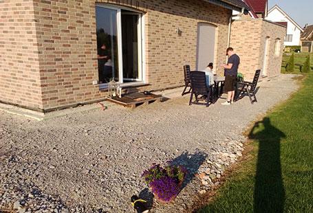 Terrasse mit Überdachung, vorher | Holzland Bunzel in Marl und Hamm