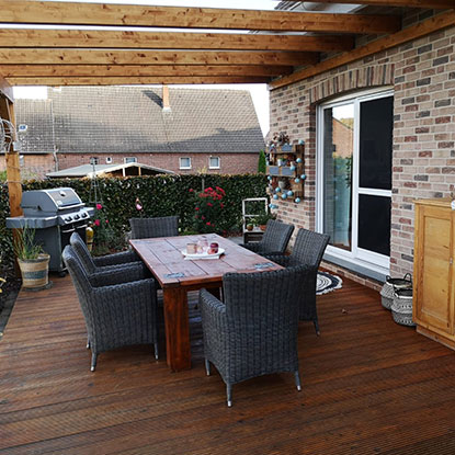 Außenbereich mit Überdachung | Holzland Bunzel in Marl und Hamm