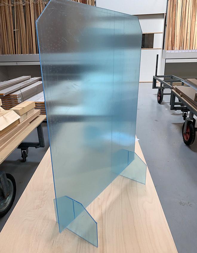 Stehende Plexiglasscheibe | HolzLand Bunzel in Marl und Hamm